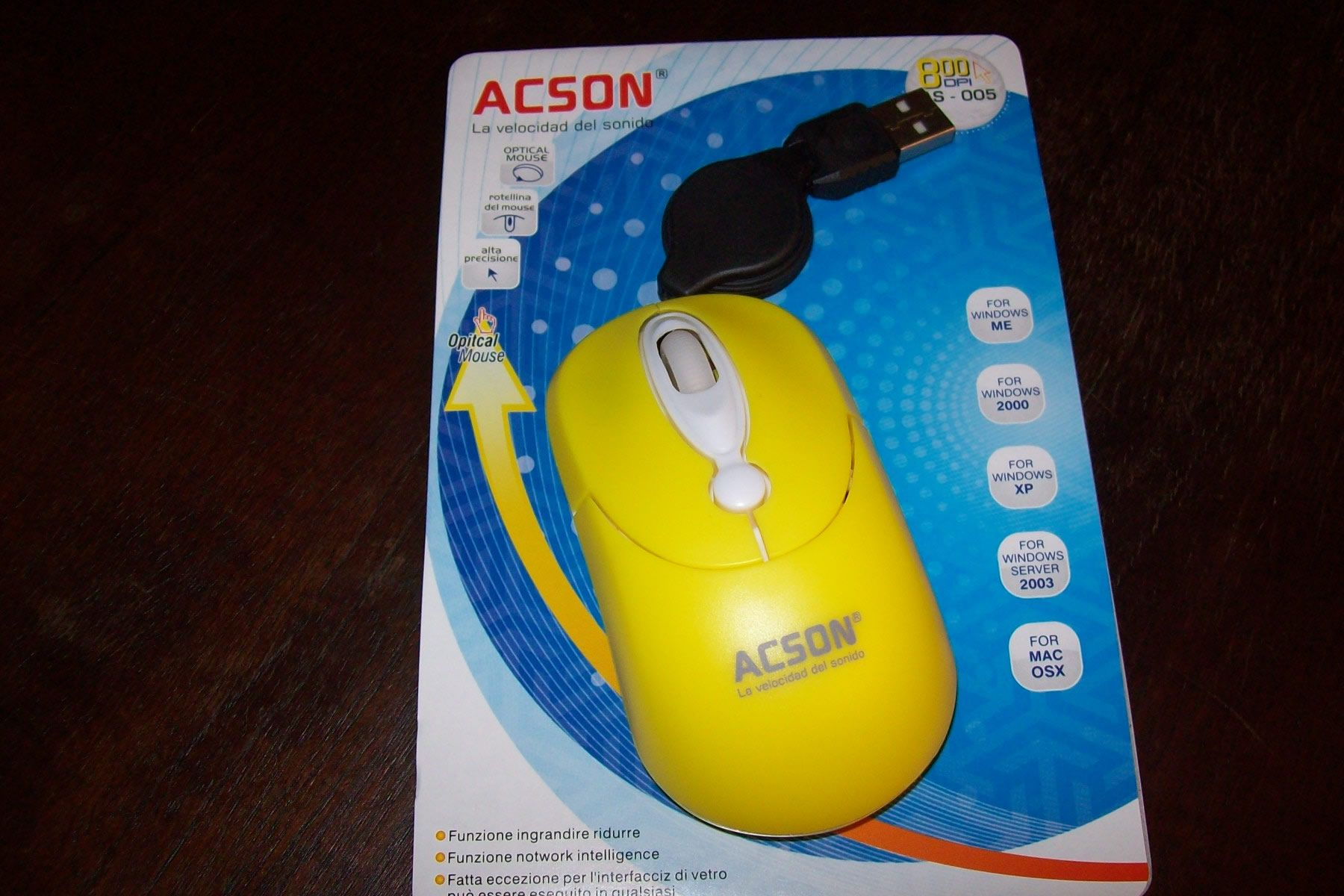 Mouse amarillo